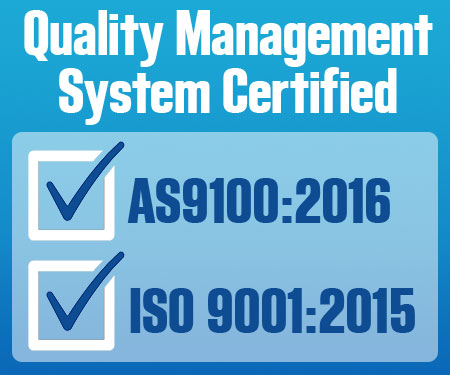 Future Tech - Quality Management System Certified ISO 9001:2015 AS9100:2016